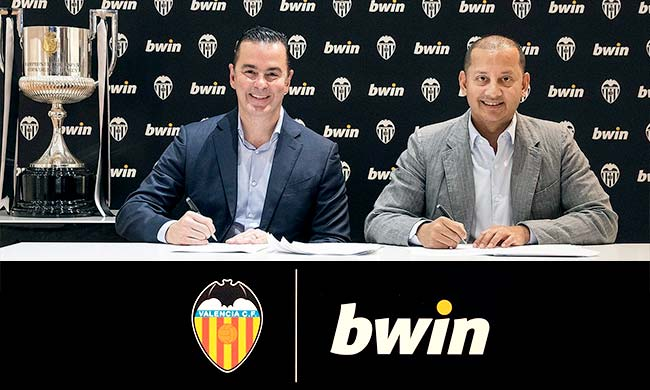 Bwin и Валенсия партньорство
